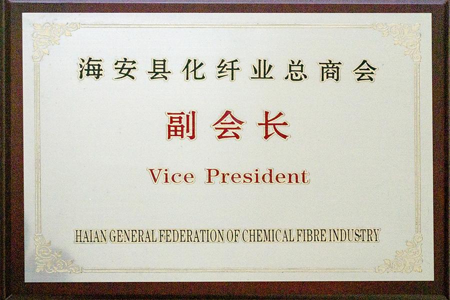 海安化纤业总商会副会长